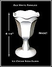 Soda Fountain Paneled &  Stemmed Glass W/Ruffled Top