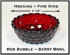 Fire King Royal Ruby Red Bubble Berry Bowl