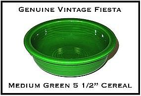 "HLC Fiesta Medium Green 5 1/2"" Cereal Bowl ~ Super!"