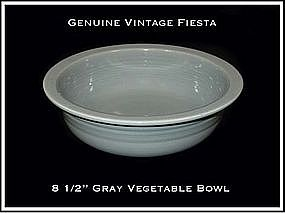 "HLC Fiesta 1950's Gray 8 1/2"" Large Bowl ~ Super!"