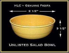 HLC Original Vintage Fiesta Unlisted Salad Bowl