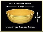 HLC Original Vintage Fiesta Unlisted Salad Bowl