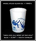Hazel Atlas Childs Blue~Jack and Jill~Tumbler