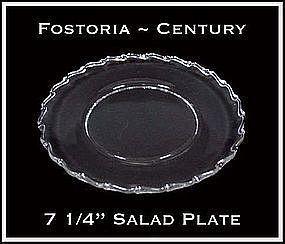 "Fostoria Century 7 1/4"" Salad Plate"