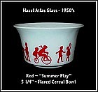 "Hazel Atlas Childs Red~""Summer Fun""~ Flared Cereal Bowl"