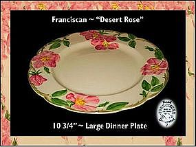 "Franciscan Desert Rose ~ 10 1/2"" Dinner Plate"