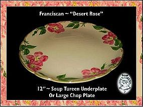 "Franciscan Desert Rose ~ 12"" Chop/UnderPlate"
