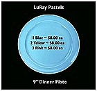 "LuRay Pastels ~ 1940's ~ 9"" Dinner Plates"