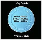 "LuRay Pastels ~ 1940's ~ 9"" Dinner Plates"