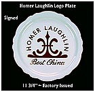 "HLC~Homer Laughlin China Co.~12"" Logo Plate ~ Super!"