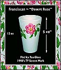 "Franciscan ~ ""Desert Rose"" ~ 1940's China Tumbler"
