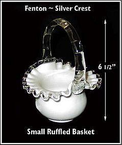 Fenton ~ Silver Crest ~ Ruffled 7 inch Basket