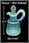 Fenton ~ Blue Hobnail ~ 2 pc Cruet With Stopper