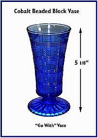 "Cobalt ""Go With"" Beaded Block 5"" Vase"