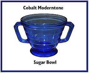 Hazel Atlas Moderntone Cobalt Sugar Bowl