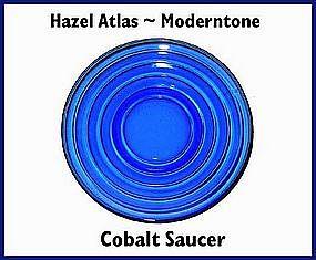 Hazel Atlas Moderntone Cobalt Saucer