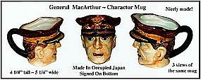 Occupied Japan ~ General MacArthur Charactor Mug