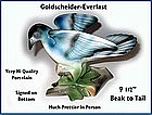 Porcelain ~ Goldscheider ~ Large Blue Bird Figurine