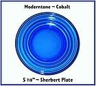 Hazel Atlas Moderntone Cobalt Sherbert Plate