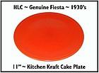 HLC Genuine Fiesta Kitchen Kraft Tangerine Cake Plate