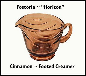 Fostoria Horizon Cinnamon Footed Creamer 1950's