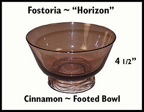 Fostoria Horizon Cinnamon Footed Bowl 1950's
