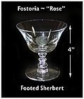 "Fostoria ""Rose"" Cutting No 827-6 oz Footed Sherbert"