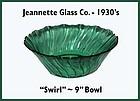 "Swirl Ultramarine 9"" Ruffled Top Salad Bowl"