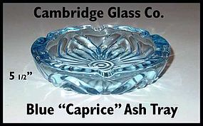 Cambridge Glass Blue Caprice Ash Tray