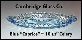 Cambridge Glass Blue Caprice 10 inch Relish/Pickle Tray