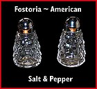 Fostoria American Salt & Pepper Shakers