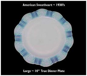 "MacBeth~Evans American Sweetheart 10"" True Dinner Plate"