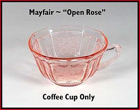 "Mayfair ""Open Rose"" Pink Coffee Cup Only"