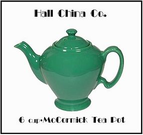 Hall China 6 Cup McCormick Tea Pot