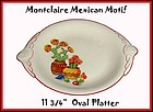 "C.C. Thompson Pottery Mexican Motif 11 1/2"" Platter"