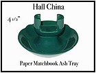 Hall China Turquoise Paper Match Holder Ash Tray
