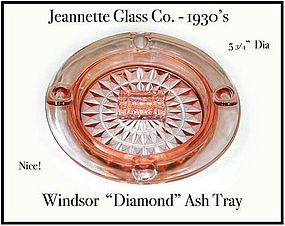 Jeannette Pink Windsor Diamond Ash Tray