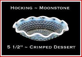 Hocking Moonstone Small Crimped/Ruffled Dessert Bowl