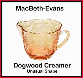 Macbeth-Evans Dogwood Pink Thin Style Creamer