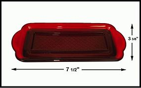 Westmoreland? ~ Dark Ruby Red 1/4 lb Butter Dish Bottom