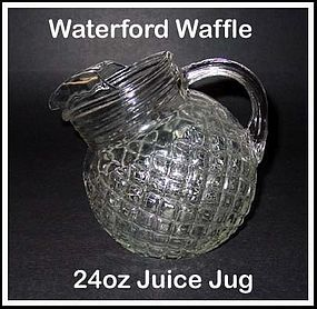 Waterford Waffle Crystal 24 ounce Juice Pitcher