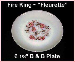 """Fire King Fleurette 6 1/2"""" Bread & Butter Plate"""