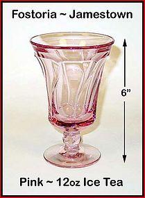 Fostoria Jamestown Pink 12oz Ice Tea Tumbler