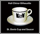 Hall Taverne Silhouette St Denis Cup and Saucer