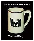 Hall China Taverne Silhouette Unusual Tankard Mug~Nice!