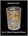 Autumn Leaf 9 oz Flat Water Tumbler by Libbey