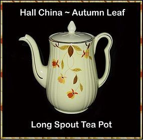 Hall China ~ Autumn Leaf Long Spout Tea Pot
