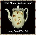 Hall China ~ Autumn Leaf Long Spout Tea Pot