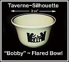 "Hall Taverne Silhouette Flared ""Bobby"" Custard Bowl"