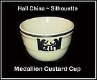 Hall Taverne Silhouette Medallion 6oz Custard Cups